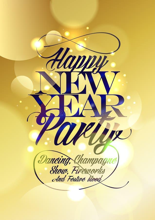 Partidesign för lyckligt nytt år stock illustrationer
