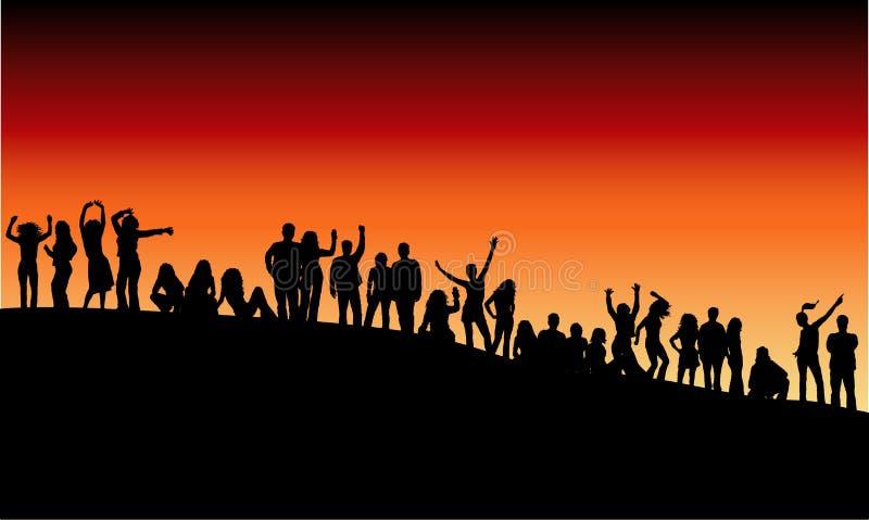 Download Partido ao ar livre ilustração do vetor. Ilustração de jovem - 530690