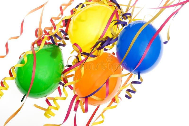 Partido, carnaval y cumpleaños de la decoración fotografía de archivo libre de regalías