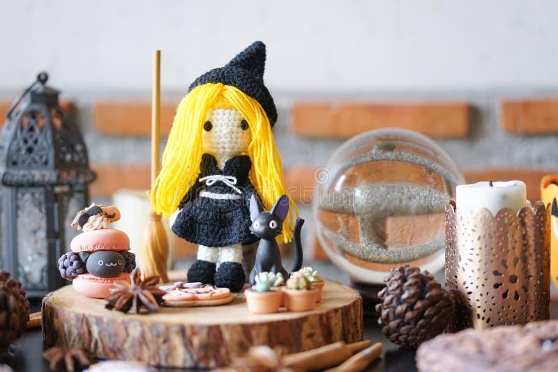Partido da feitiçaria de Dia das Bruxas foto de stock