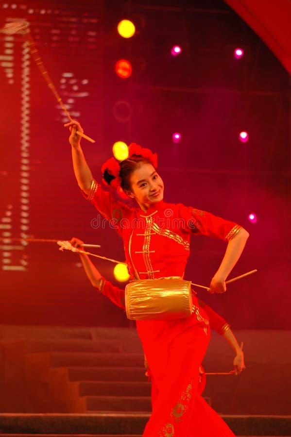 Partido da gala do festival de mola de Feng-Yong Flower Drum Song-2006 Jiangxi imagem de stock royalty free