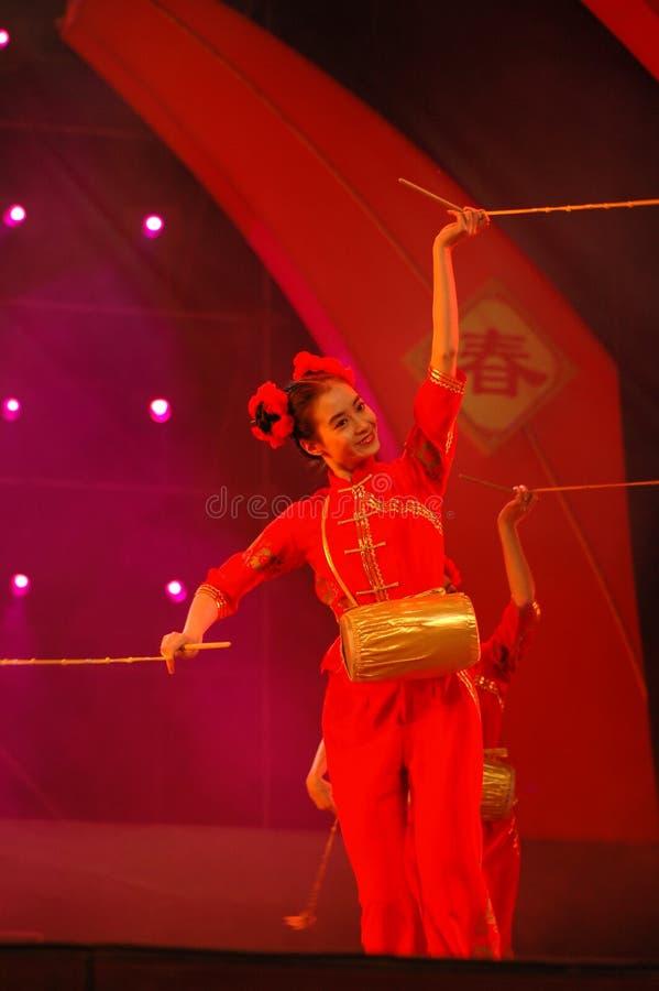 Partido da gala do festival de mola de Feng-Yong Flower Drum Song-2006 Jiangxi foto de stock