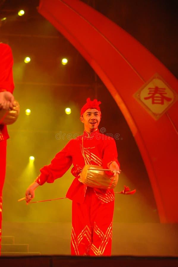 Partido da gala do festival de mola de Feng-Yong Flower Drum Song-2006 Jiangxi fotos de stock royalty free