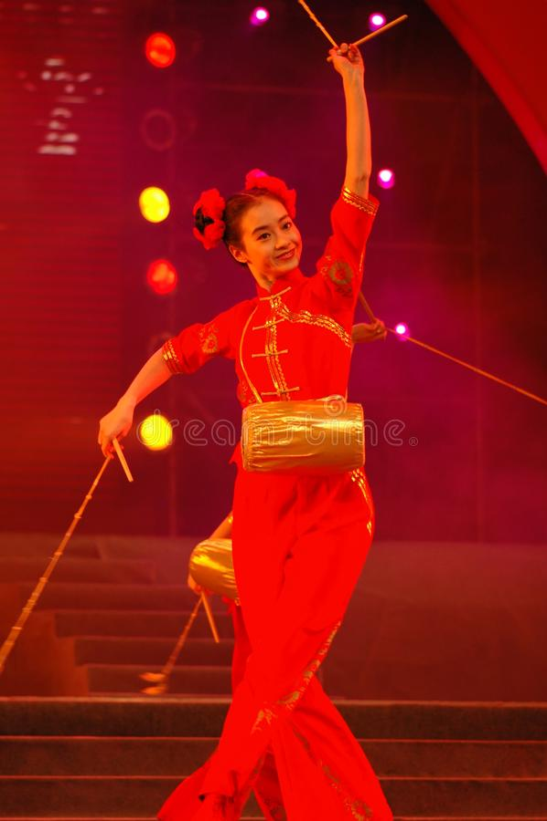 Partido da gala do festival de mola de Feng-Yong Flower Drum Song-2006 Jiangxi imagens de stock