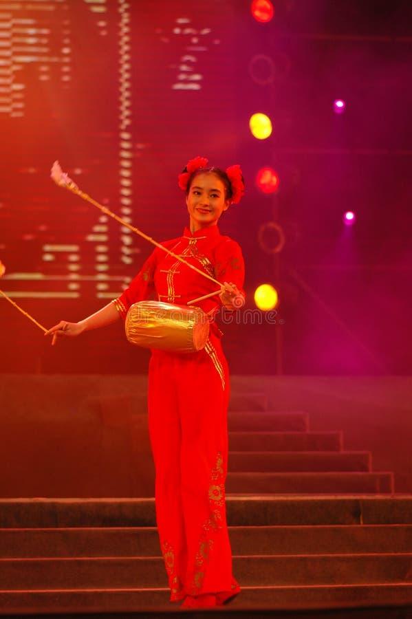 Partido da gala do festival de mola de Feng-Yong Flower Drum Song-2006 Jiangxi fotografia de stock royalty free