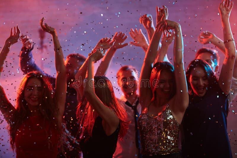 Partido da noite imagens de stock