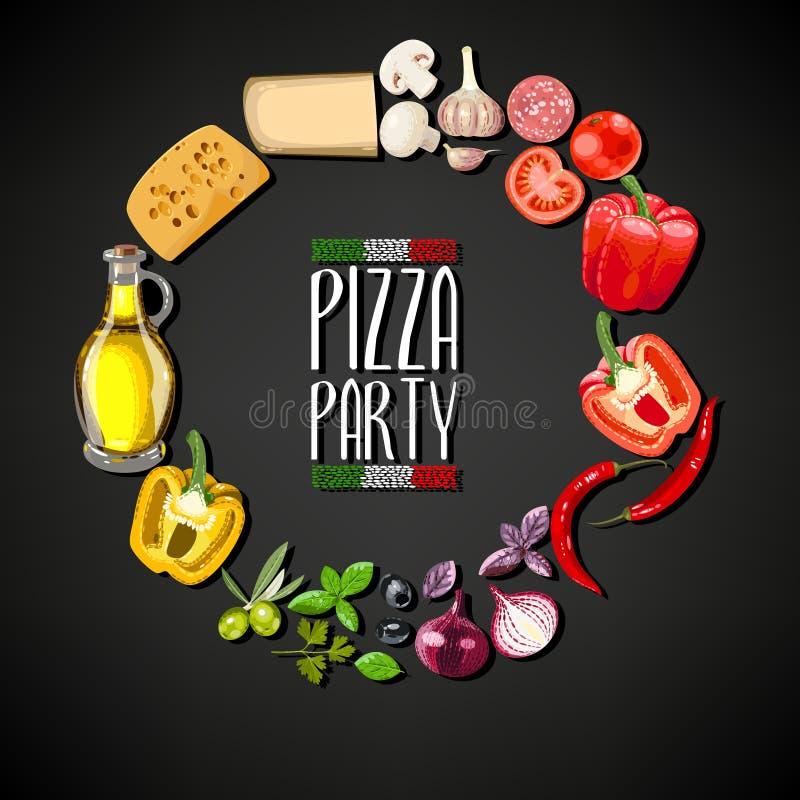 Partido da pizza ilustração royalty free