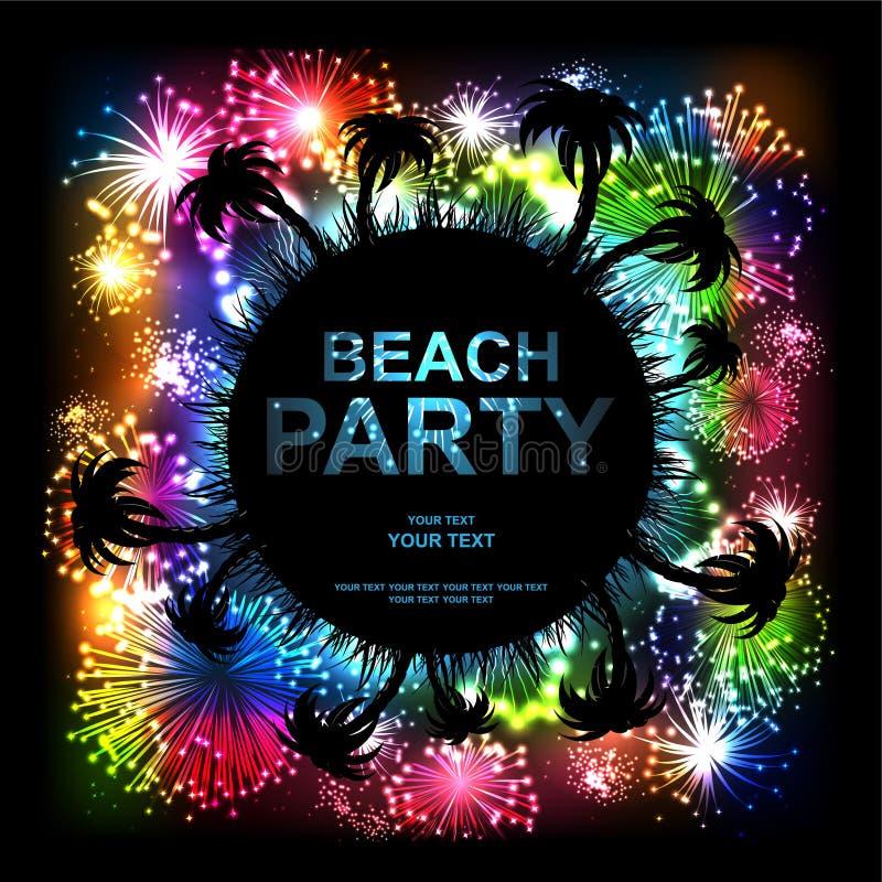 Partido da praia ilustração stock