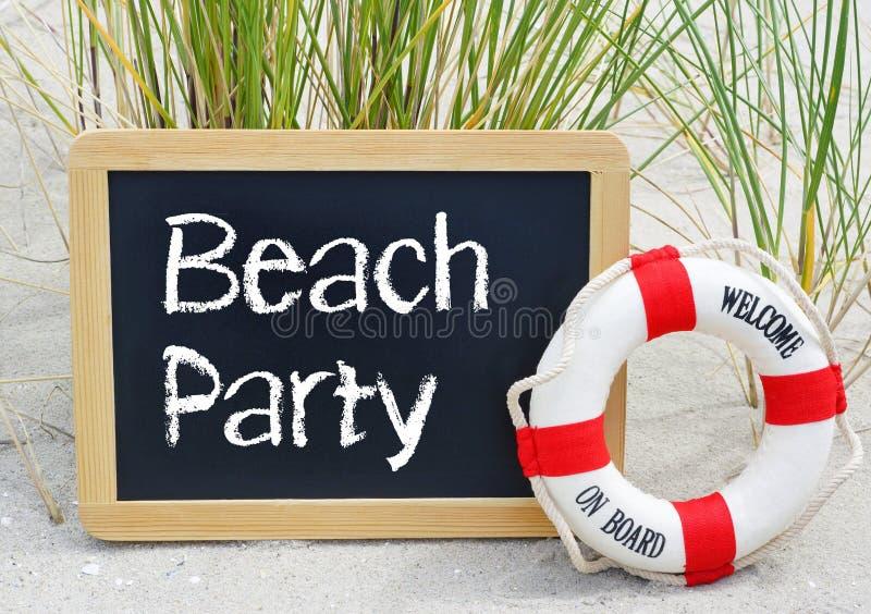 Partido da praia - boa vinda a bordo fotos de stock royalty free