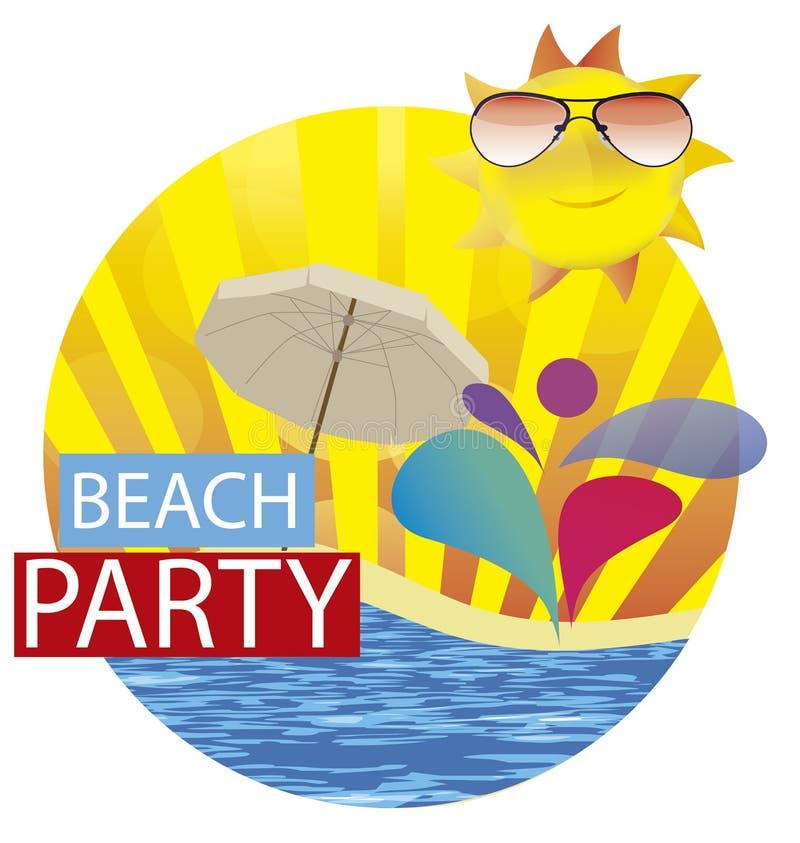 Partido da praia do verão ilustração stock
