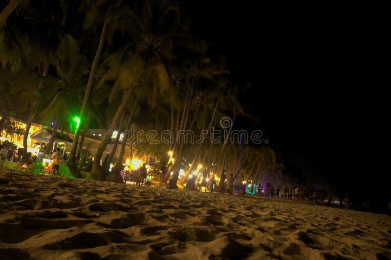 Partido da praia na noite fotografia de stock