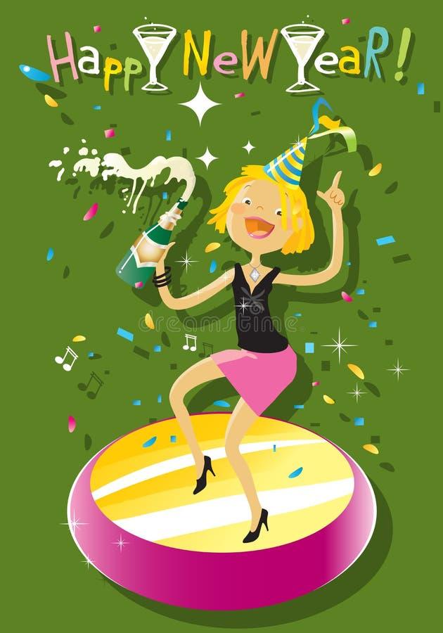 Partido da véspera de Ano Novo ilustração royalty free