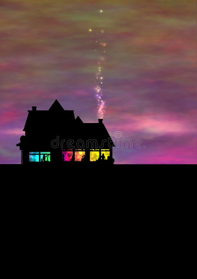 Partido de casa ilustração royalty free