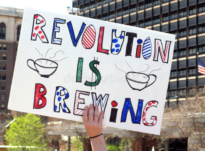 Partido de chá de Philadelphfia imagem de stock royalty free