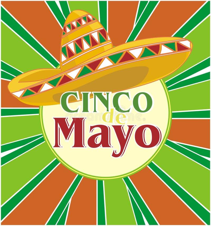Partido de Cinco de Mayo ilustração royalty free