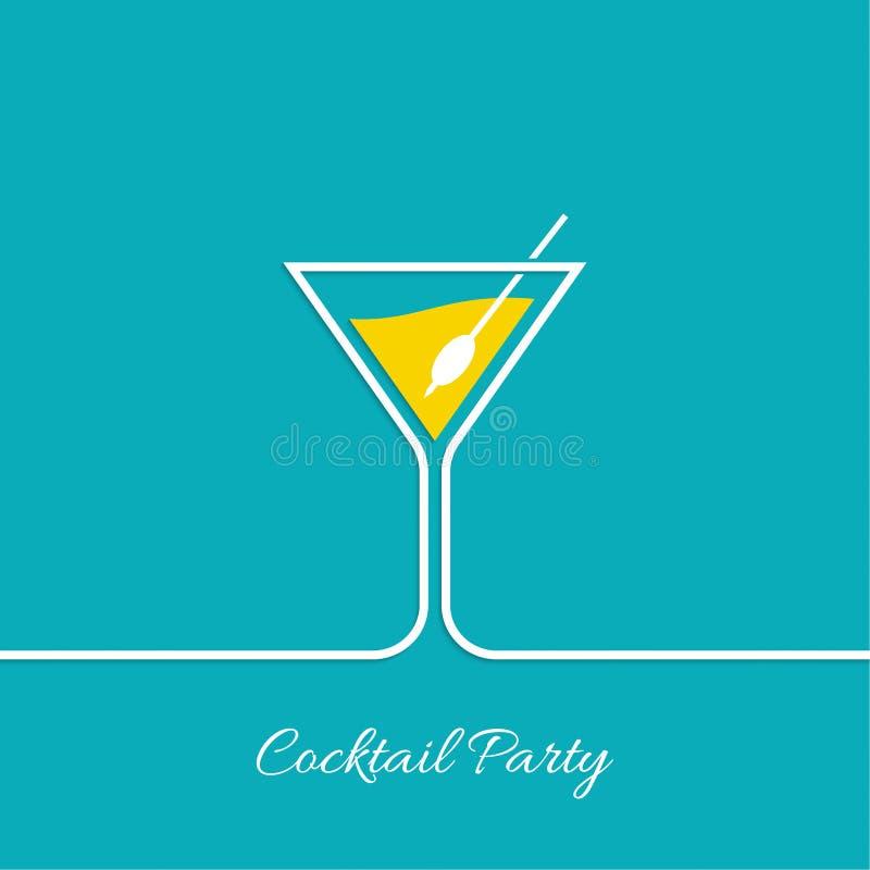 Partido de cocktail ilustração do vetor