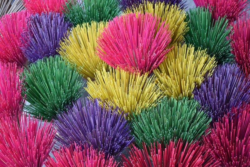 Partido de colores en incienso vietnamita foto de archivo libre de regalías