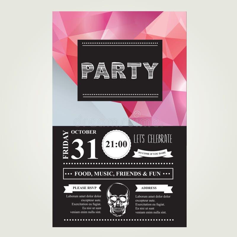 Partido de disco do convite typography Ilustração do vetor ilustração royalty free