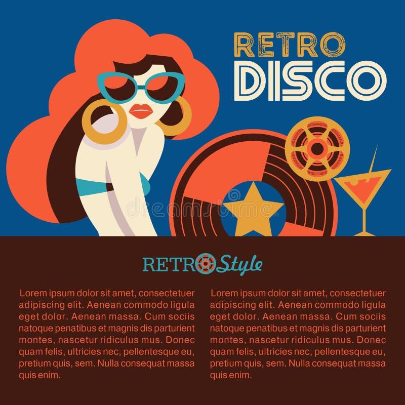 Partido de disco retro Ilustração do vetor ilustração stock
