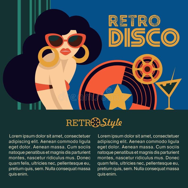 Partido de disco retro Ilustración del vector libre illustration