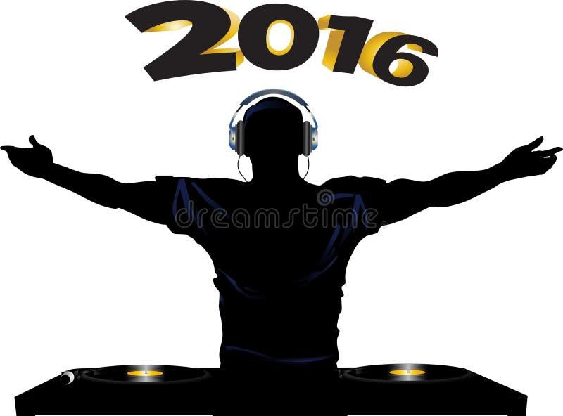 Partido 2016 de DJ y de cubiertas de registro libre illustration