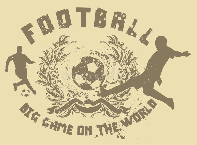 Partido de fútbol 02 stock de ilustración