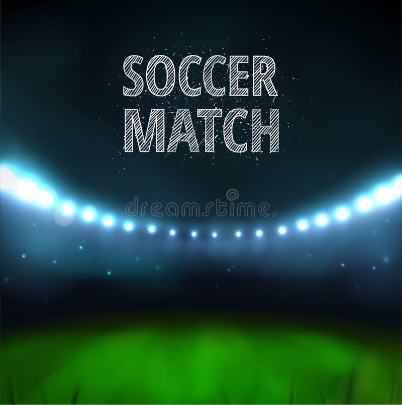 Partido de fútbol ilustración del vector