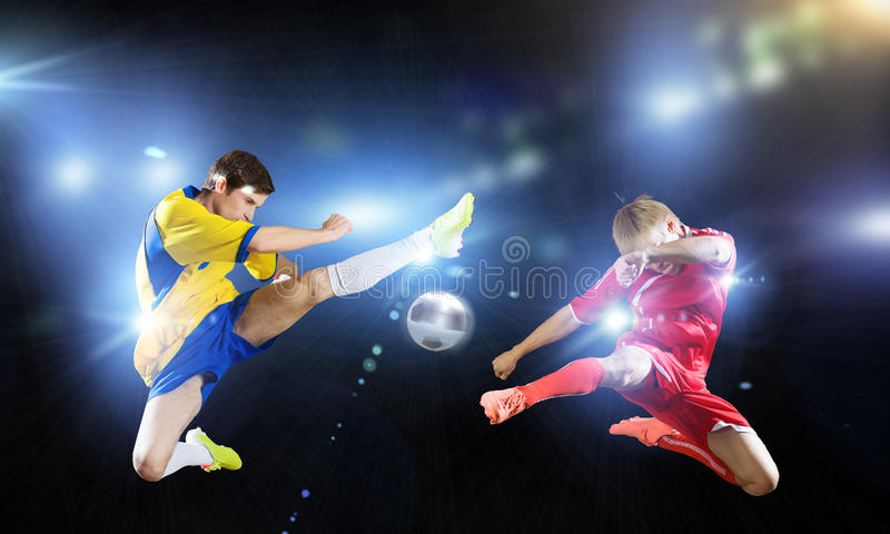 partido de fútbol foto de archivo