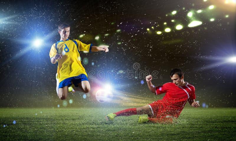 partido de fútbol imágenes de archivo libres de regalías