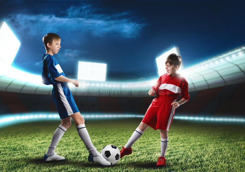 partido de fútbol fotografía de archivo libre de regalías