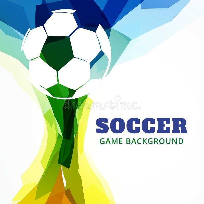 Download Partido De Fútbol Abstracto Ilustración del Vector - Ilustración de meta, indicador: 41919756