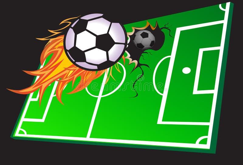 Partido de fútbol caliente libre illustration