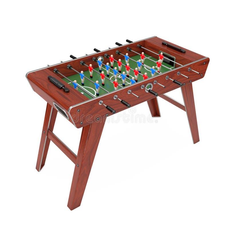 Partido de fútbol de la tabla del fútbol representación 3d libre illustration