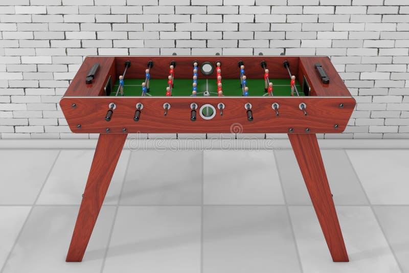 Partido de fútbol de la tabla del fútbol representación 3d ilustración del vector