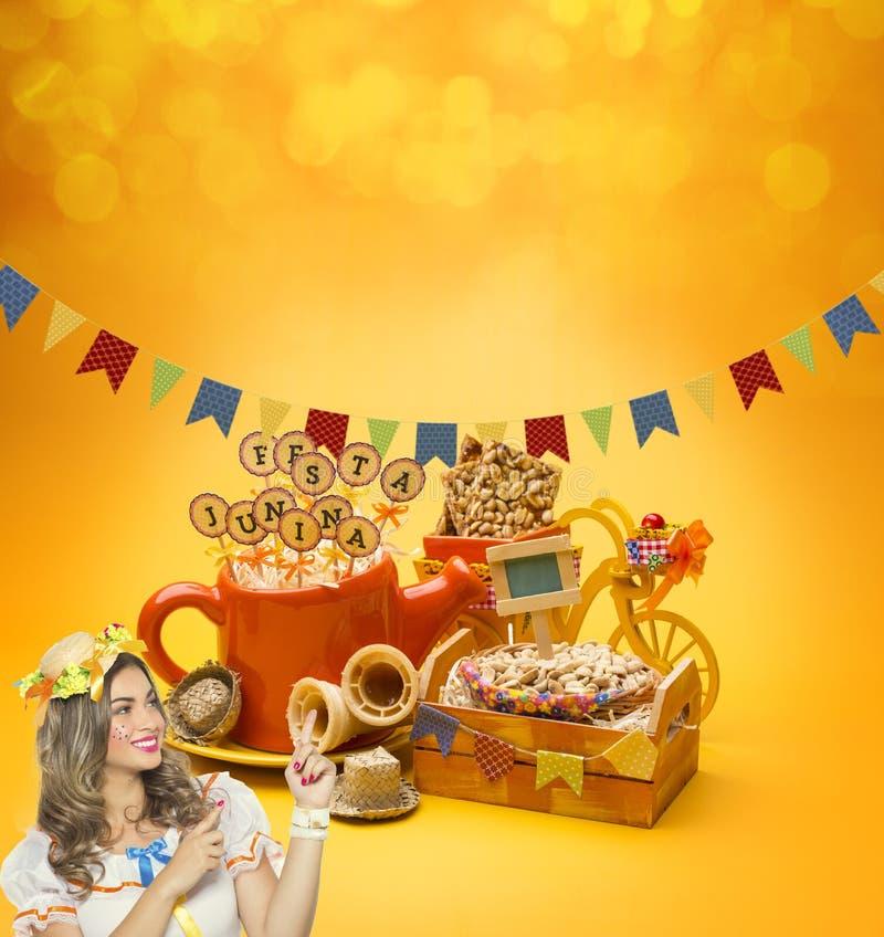 Partido de Festa Junina foto de archivo libre de regalías