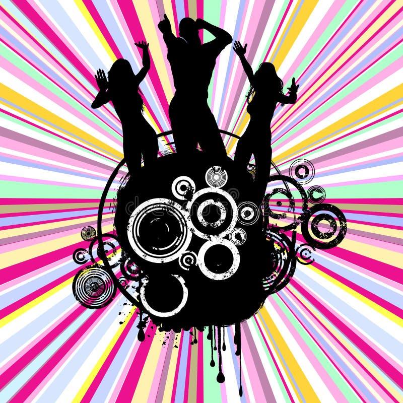 Partido de Grunge ilustração do vetor