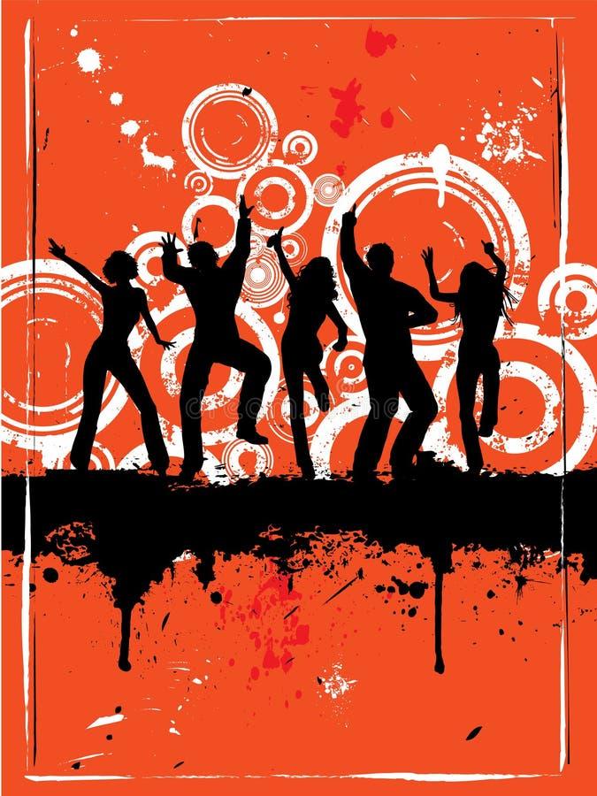 Partido de Grunge stock de ilustración