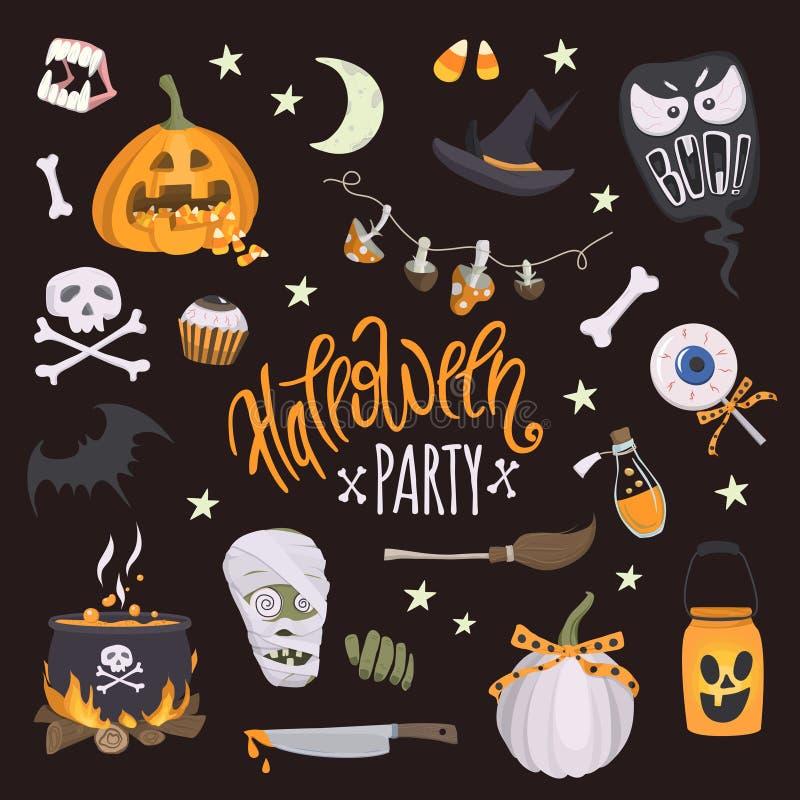 Partido de Halloween ilustração do vetor