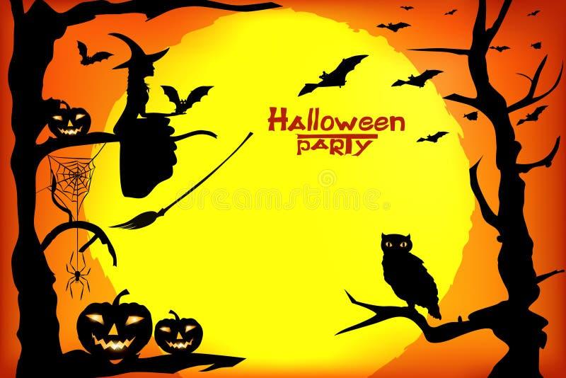 Partido de Halloween ilustração stock