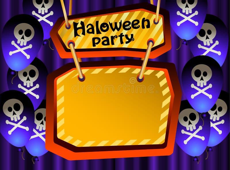 Download Partido de Halloween. (2) ilustração do vetor. Ilustração de backdrop - 26523529