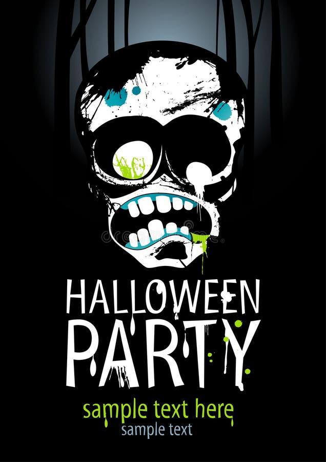 Partido de Halloween. ilustração do vetor