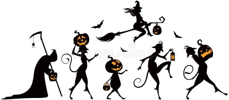 Partido de Halloween ilustración del vector