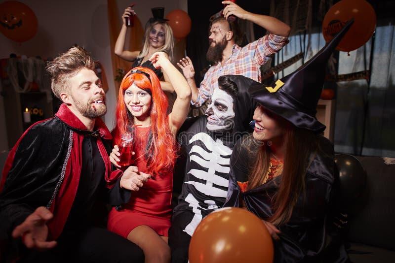 Partido de Halloween fotografia de stock royalty free