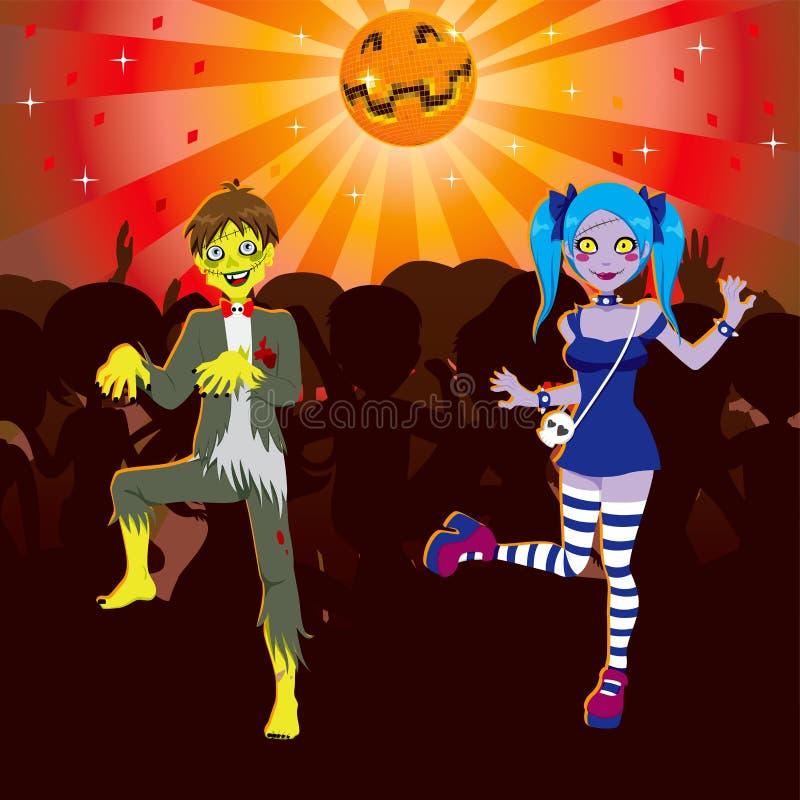 Partido de Halloween do disco do zombi ilustração do vetor