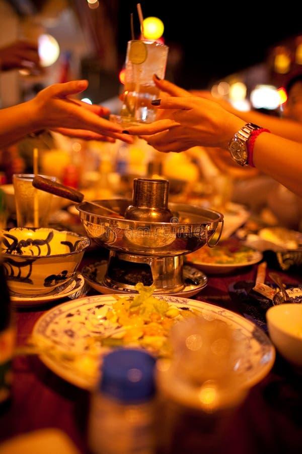 Partido de jantar imagens de stock