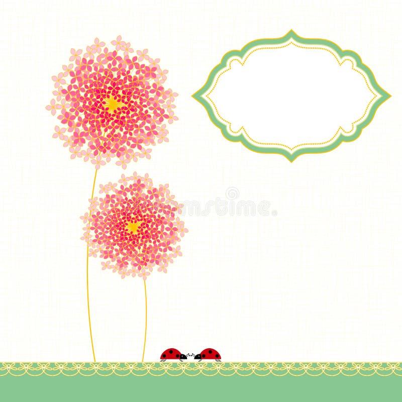 Partido de jardín de flores colorido de la hortensia stock de ilustración