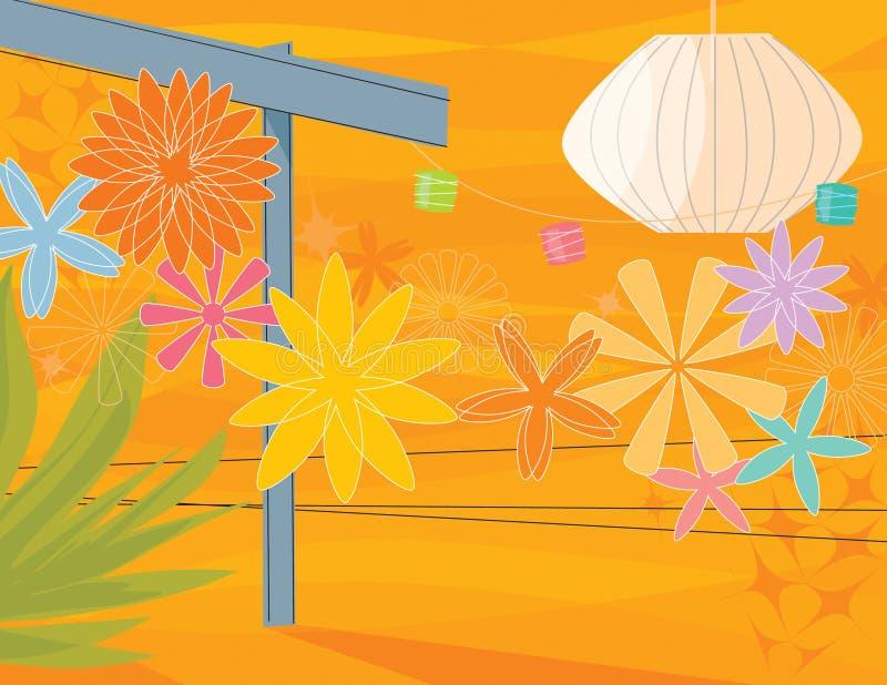 Partido de jardim retro ilustração stock