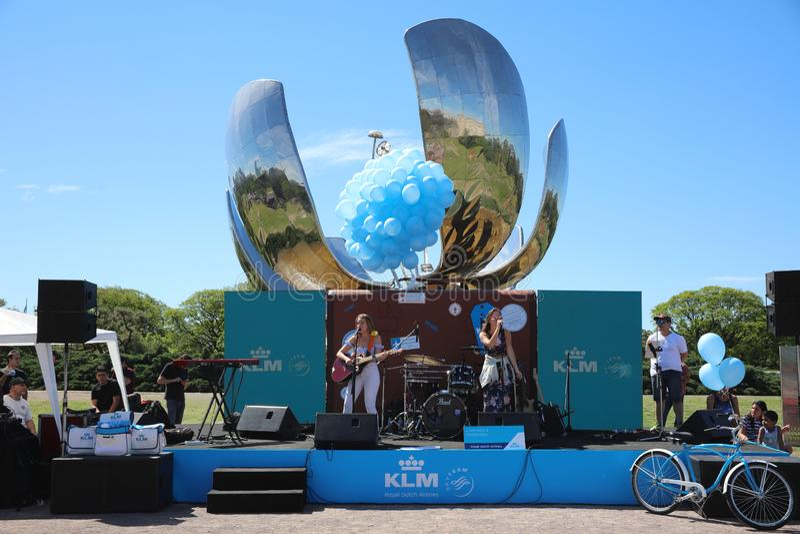 Partido de KLM no parque de United Nations em Buenos Aires argentina fotografia de stock royalty free
