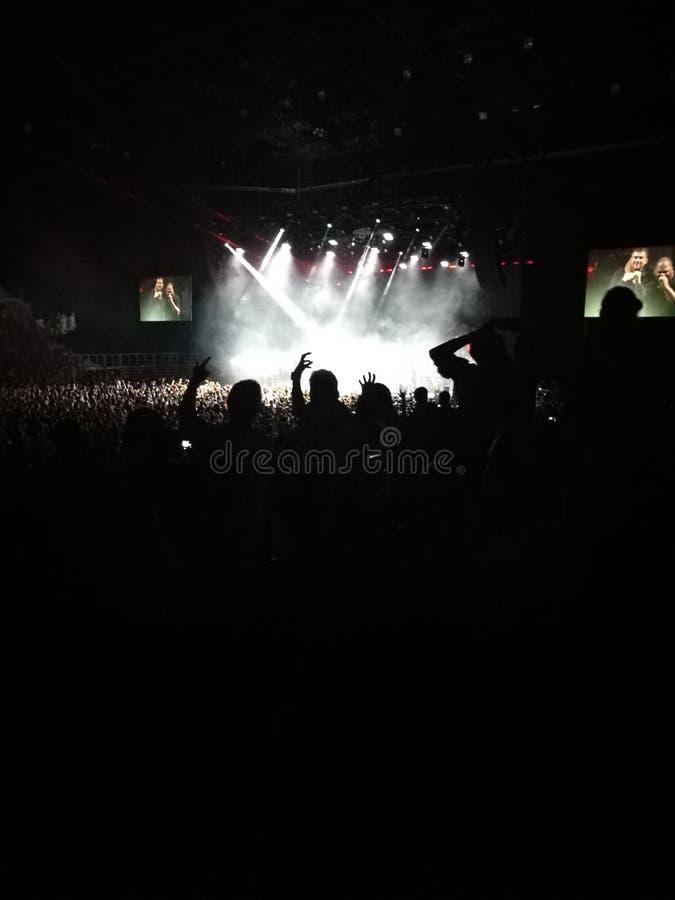 Partido de la arena de las luces de la música de concierto imágenes de archivo libres de regalías