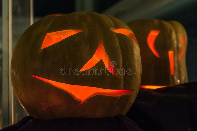 Partido de la calabaza de Halloween fotografía de archivo libre de regalías